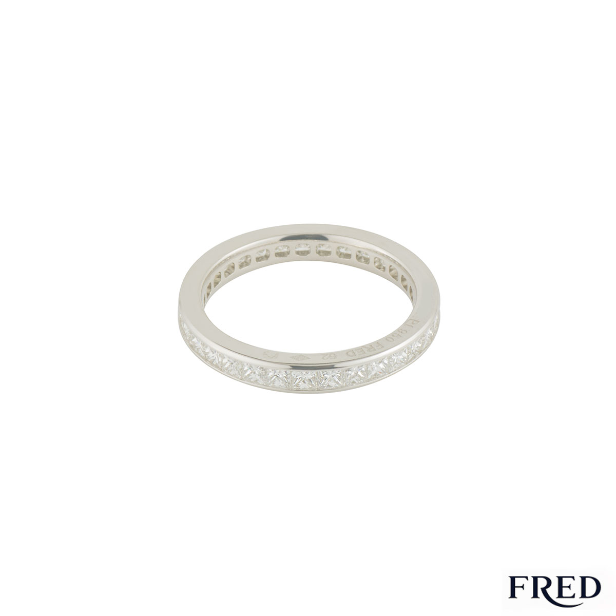 Fred Platinum Full Diamond Eternity Ring 1.92ct G+/VS+